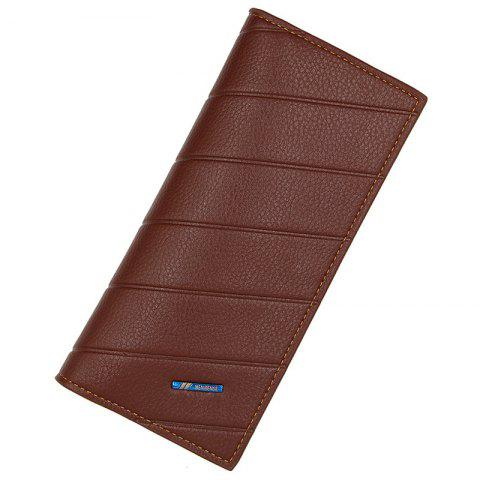 L886 - 4 Long Multi-card Multi-function Small Fashion Business Men's Wallet - LIGHT BROWN