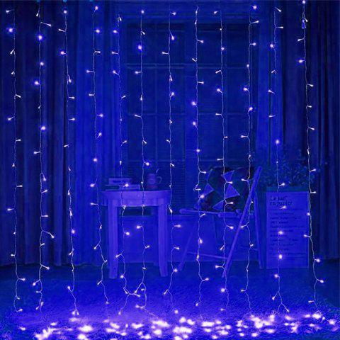 3 x 2 Meters Curtain 256 LED Pendant Ice 220V Christmas Wedding Party Window Background Decoration Lights - BLUE