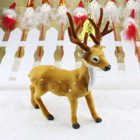 Christmas Sika Deer Christmas Gift Props Plush Elk Decoration 30cm - YELLOW