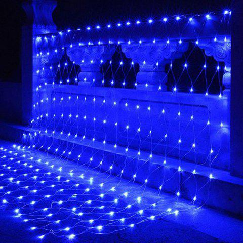 3m x 2m Outdoor Fishing Net 200LED Lights Waterproof Starry Sky 220V Party Wedding Christmas Decoration Lights - BLUE