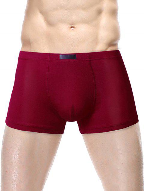 Men's  Boxer Underwear - RED WINE L