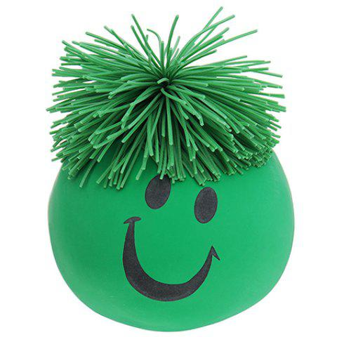 Creative Vent Human Face Ball Anti Stress Relief Toy 1PC - GREEN