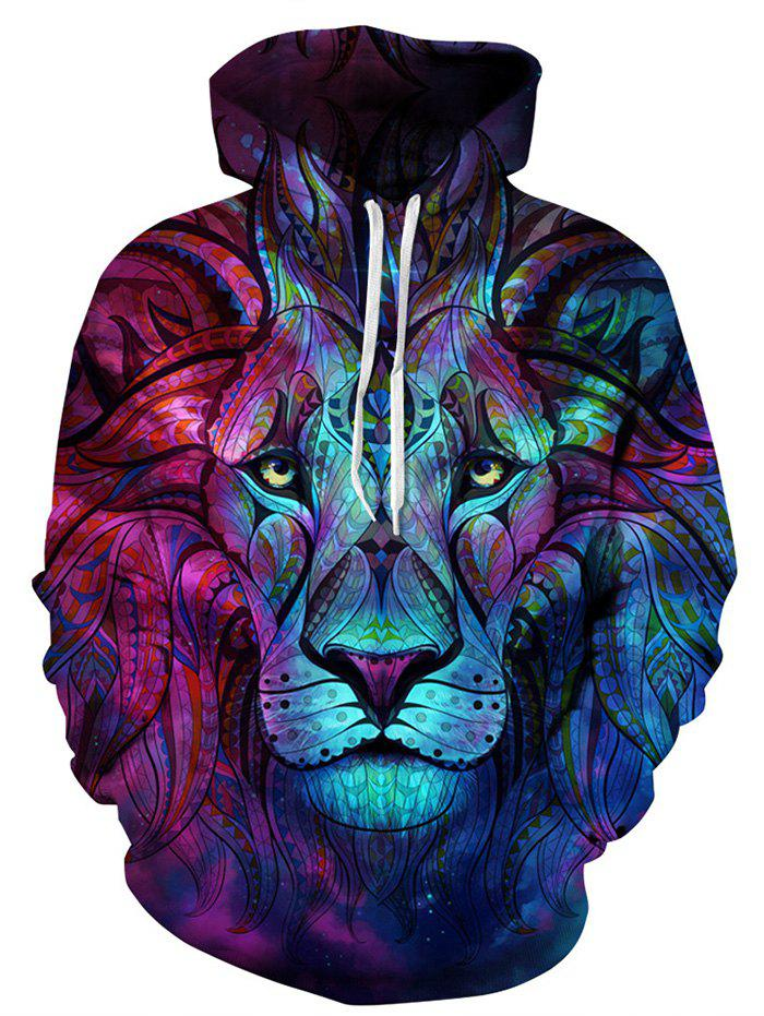 3D Digital Printing Hoodie Men's Sports Jacket Large Size Lovers Clothes - multicolor A 4XL