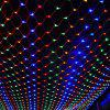 220V Outdoor Fishing Net 96 LED Waterproof Starry Sky Lights for Party Wedding Christmas Decoration - multicolor A EU PLUG