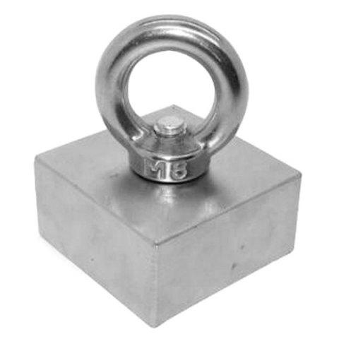 N42 F 50 x 50 x 25cm Square NdFeB Rings Salvaging Strong Magnetic Magnet - SILVER