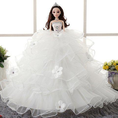 High White Princess Single Girl Dance Doll - WHITE