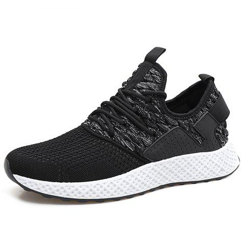 Fly Woven Breathable Casual Sports Shoes for Men - ASH GRAY EU 41