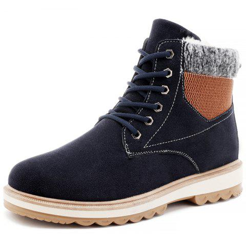 D108 Plus Velvet Trend Men Boots - BLUE EU 42