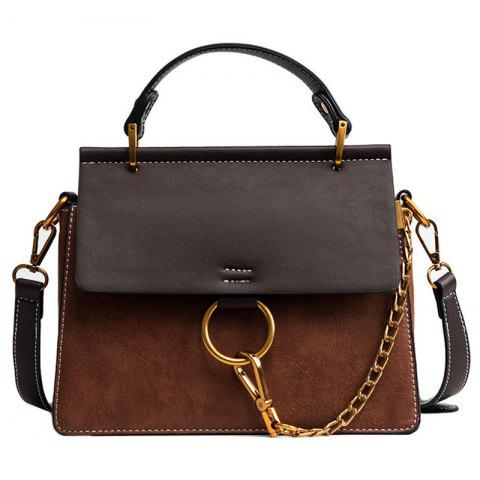 Retro Style Portable Women's Crossbody Bag - BROWN