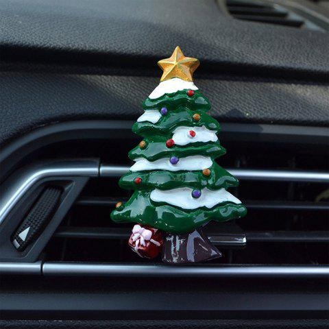 578 Creative Christmas Tree  Air Outlet Clip for Car Decoration - GREEN YELLOW STAR WITH SNOW