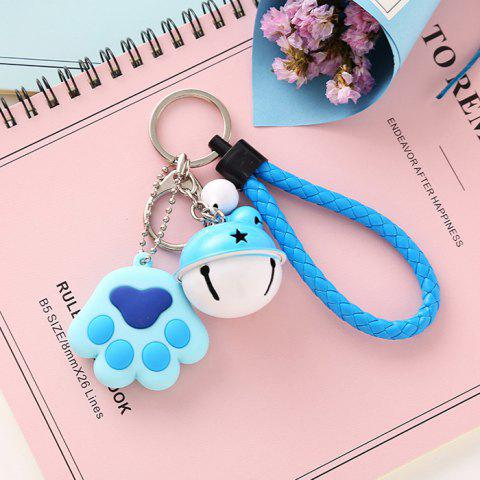 Hand Rope Bell Fresh Fashion Bag Decoration Accessories Cartoon Metal Keychain - DAY SKY BLUE