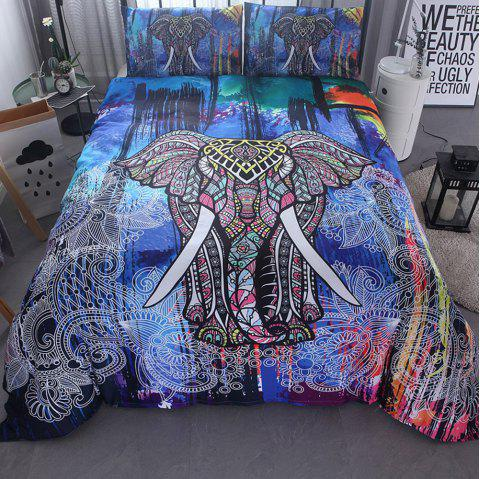 Famous Wind 3D Bedding Set 200 x 200cm 3pcs - multicolor A