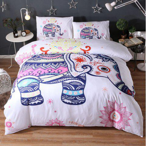 Fashion Ethnic Style 3d Bedding Set 200 x 200cm - CRYSTAL CREAM