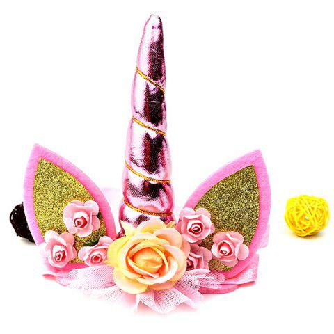 Unicorn Christmas Party Hair Band Headdress - PALE VIOLET RED