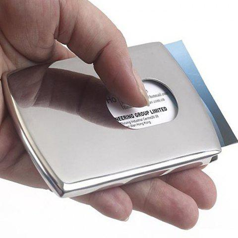 Simple Stainless Steel Card Case - SILVER