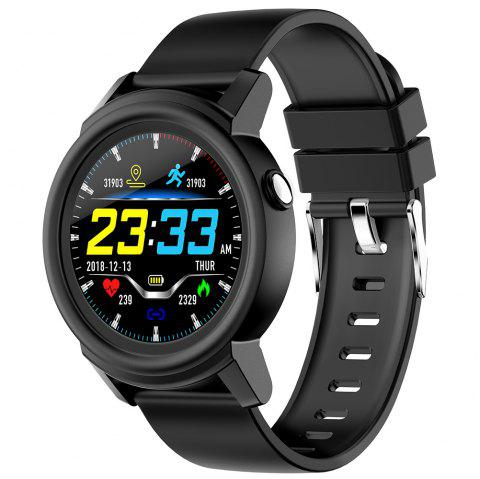NY01 Smart Watch 1.3 inch HS6620D 128KB RAM 1MB ROM Heart Rate Monitor IP67 Waterproof Step Count Sedentary Reminder 230mAh Built-in - BLACK