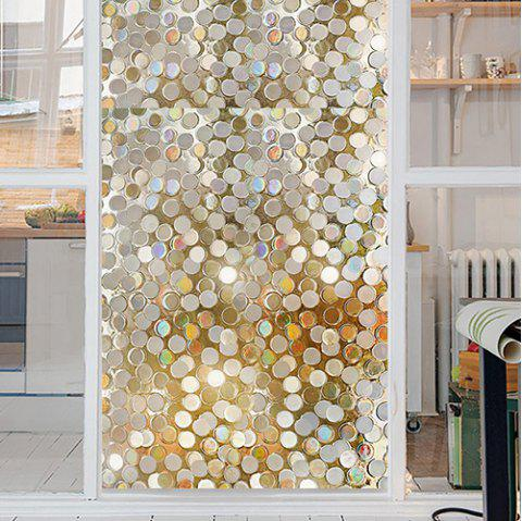 3D Refracting Color Creative Wall Sticker - TRANSPARENT