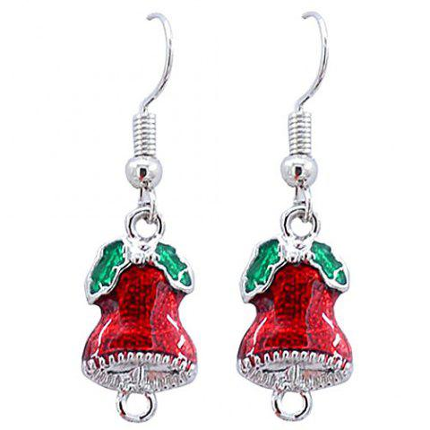 Creative Fashion Christmas Bell Earrings - SILVER