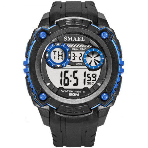 SMAEL 1390 Sports Waterproof and Shockproof Single Display Electronic Watch - BLUE