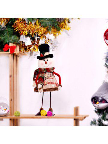 Pendant & Drop Ornaments New Fashion Creative Dynamic Swing Santa Claus Snowman Dolls Standing Ornaments Christmas Decoration Supplies Kids Gifts Christmas Toy