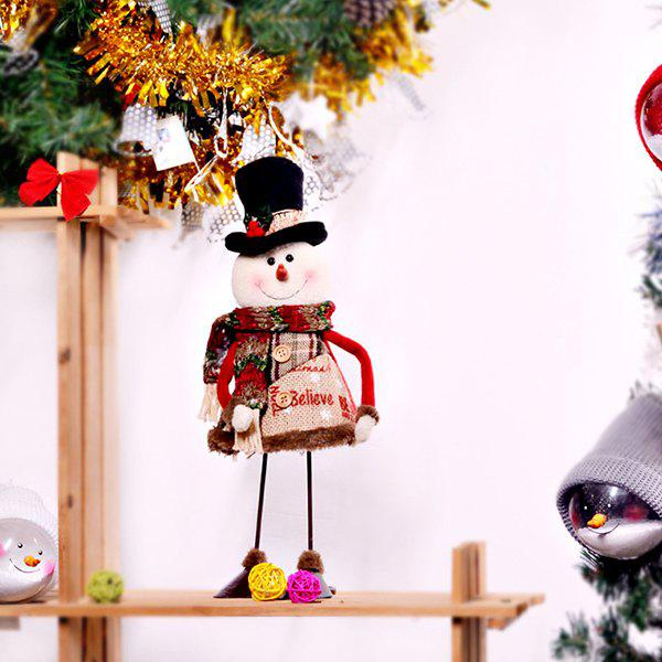 Creative Dynamic Swing Santa Snowman Fabric Doll Christmas Decoration - multicolor A SNOWMAN