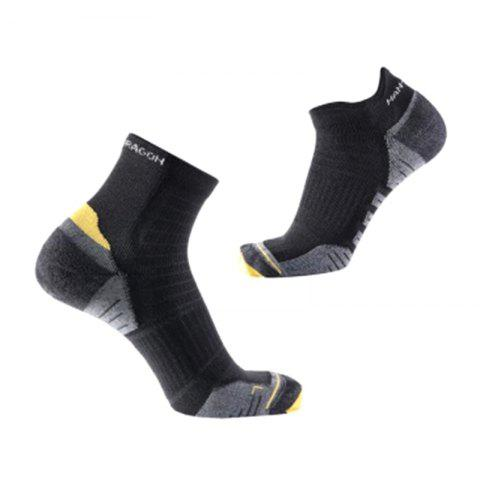 COOLMAX Terry Sports Socks from Xiaomi youpin 3 Pair - JET BLACK S