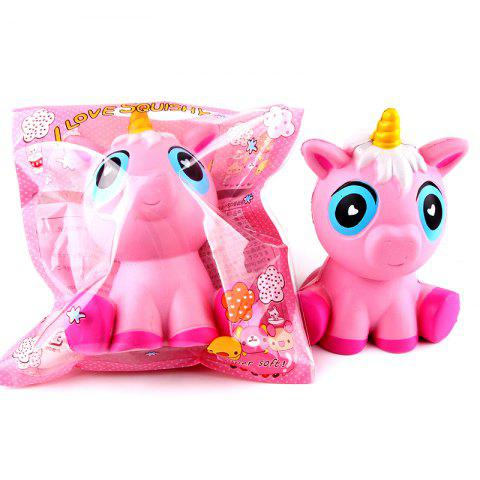SANQIELAN Simulation Unicorns Slow Rebound Decompression Toy - PINK