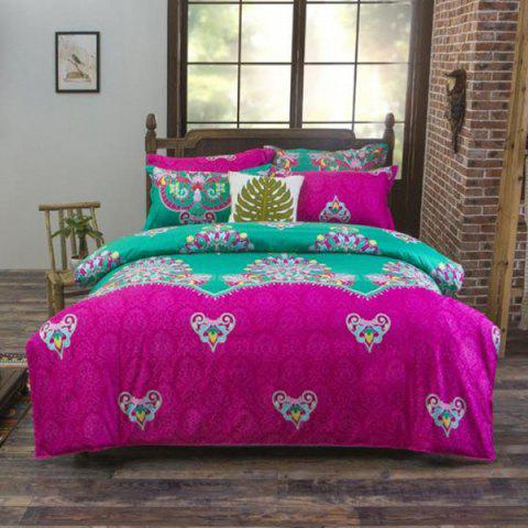 Printing National Style Bedding 4PCS 2.2m - multicolor A