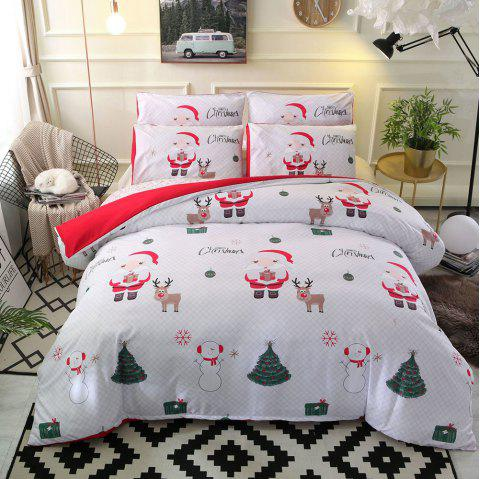 Christmas Santa Happy Gift 3D Bedding Set 228 x 228cm - multicolor B