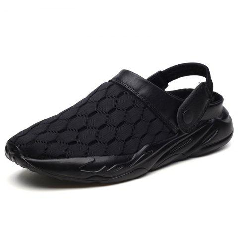 Casual Mesh Slippers - BLACK EU 41