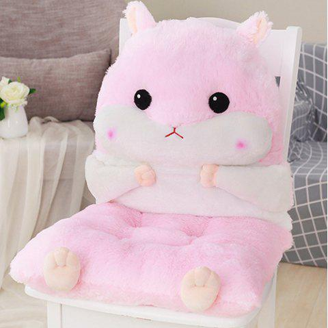 Autumn Winter Office Student Chair Stool Thickening Hamster Cushion - PIG PINK