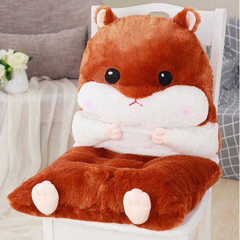 Autumn Winter Office Student Chair Stool Thickening Hamster Cushion - BROWN SUGAR