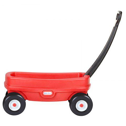 Child 4 Wheeled Truck Baby Push Walker Can Carry  to Promote Toys - RED