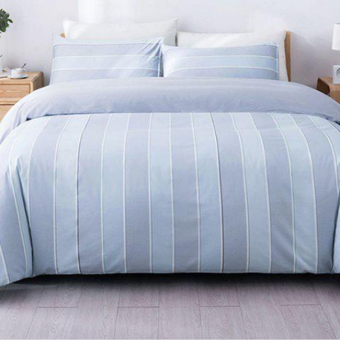 Nightly Cotton Striped Fashion Bedding Set from Xiaomi youpin - SEA BLUE 1.5M
