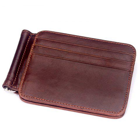 MVA 7607 Leather Card Holder Card Set Multi-function Men's Leather Retro Wallet - BLOOD RED