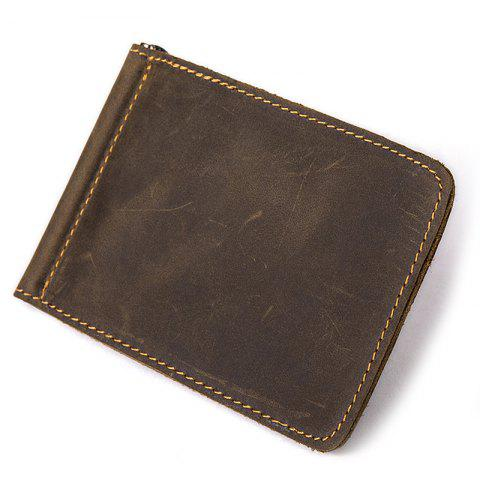 MVA Men Classic Large Capacity Casual Leather Card Holder - COFFEE