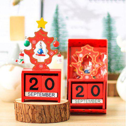Christmas Desk Calendar Desktop Decoration for Company Activities - multicolor D