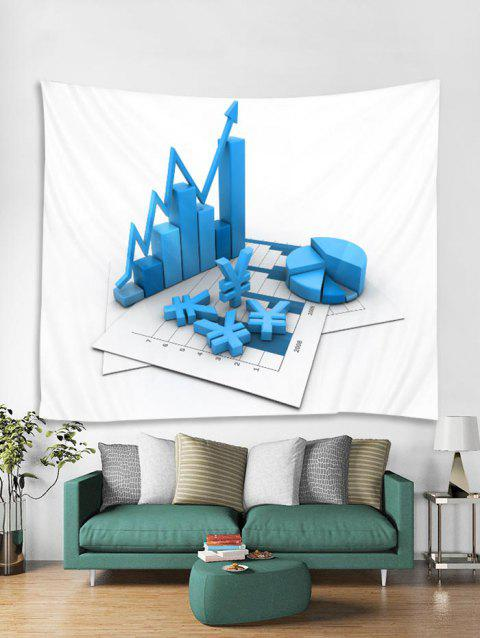 3D Cube Pattern Tapestry Art Decoration - WHITE W79 X L59 INCH