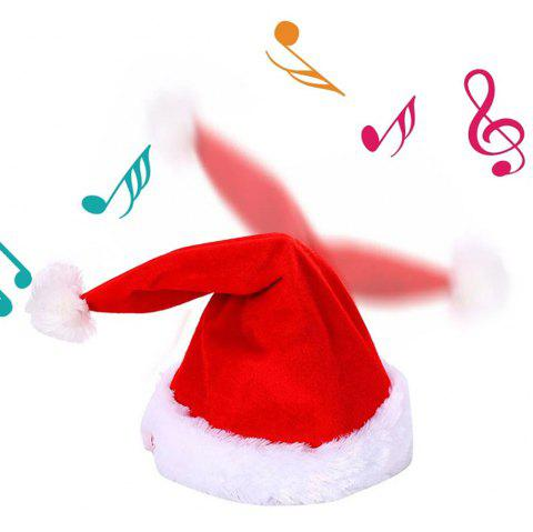 Novelty Creative Dance Music Christmas Hat from Xiaomi youpin - RED