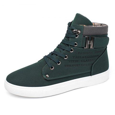 SYXZ 0164 High-top Casual Shoes Lace-up Boots - GREEN EU 43