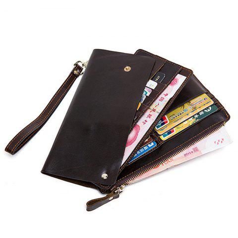 MVA 9035 Multi-card Leather Portable Coin Card Package - TAUPE
