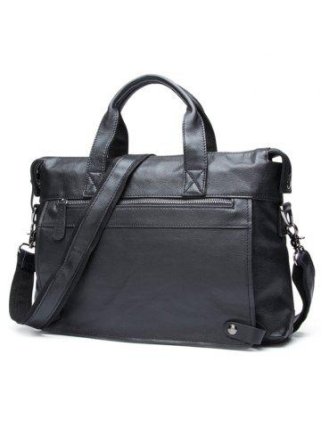 e0beece52284 JOYIR Men s First Layer Leather Casual Shoulder Crossbody Bag Portable Business  Briefcase