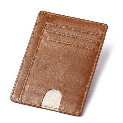 MVA Leather Anti-theft Anti-brush Card Package - BROWN