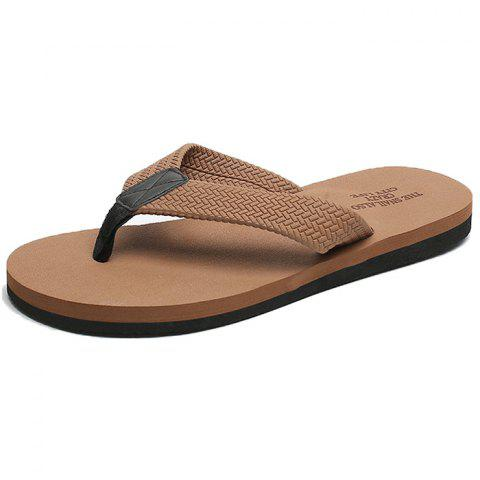 Beach Young Word European Standing Soil Early Summer Slippers - BROWN EU 43