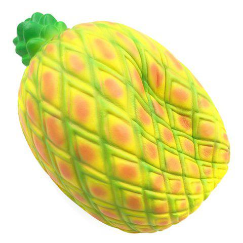 Oversized PU Slow Rebound Pineapple Ornaments Decompression Squishy Toy - YELLOW