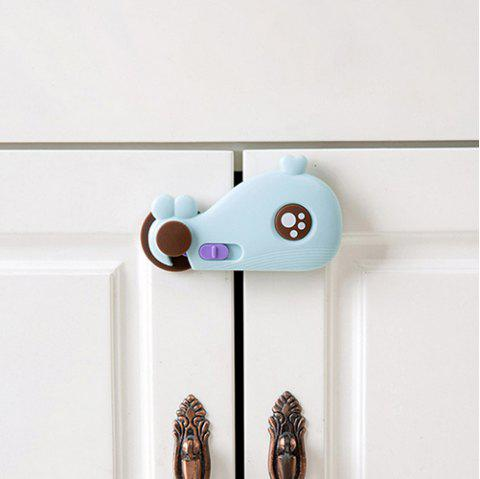 Whale Design Multi-function Baby Safety Buckle for Cabinet Door - CORAL BLUE