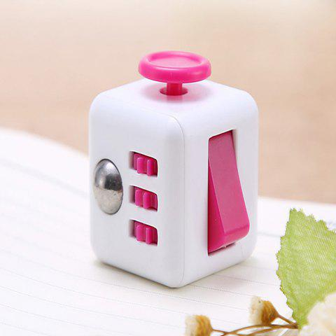 591 Creative Decompression Unlimited Magical Cube Fun Toys Unpacking Dice - PINK 6 X 6 X 4CM