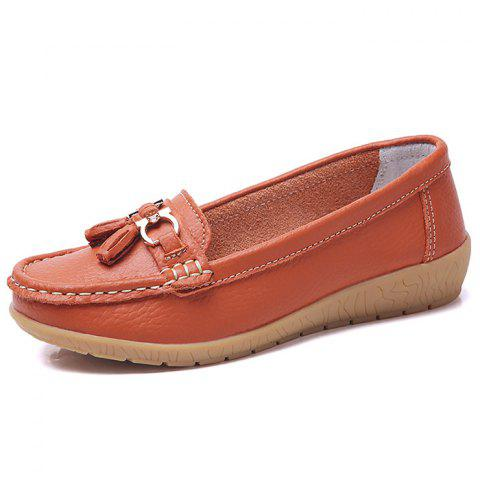 Female Wild Soft Warm Peas Shoes - PUMPKIN ORANGE EU 44