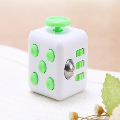 591 Creative Decompression Unlimited Magical Cube Fun Toys Unpacking Dice - GREEN 6 X 6 X 4CM
