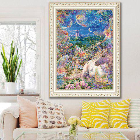 5D Unicorn Living Room Bedroom Cross Stitch Diamond Painting - multicolor A